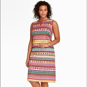 Talbots | Women's Flowers & Stripe Shift Dress